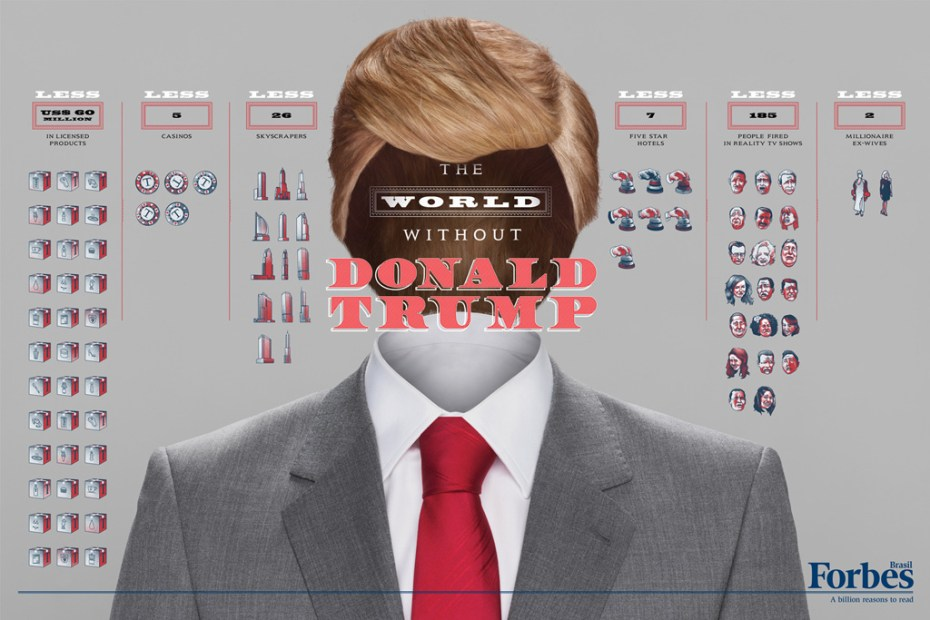 Image of Forbes: The World Without Donald Trump, Eike Batista, Richard Branson, Bill Gates, Tiger Woods, Mark Zuckerberg