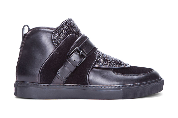 Image of Givenchy 2012 Spring/Summer Black Padded Leather Sneakers
