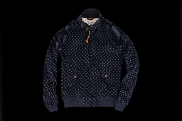 Image of Golden Bear Kentfield Jacket in Navy Pin Dot
