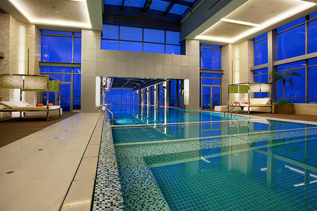 Image of Holiday Inn Shanghai 24th Story Glass Bottom Swimming Pool