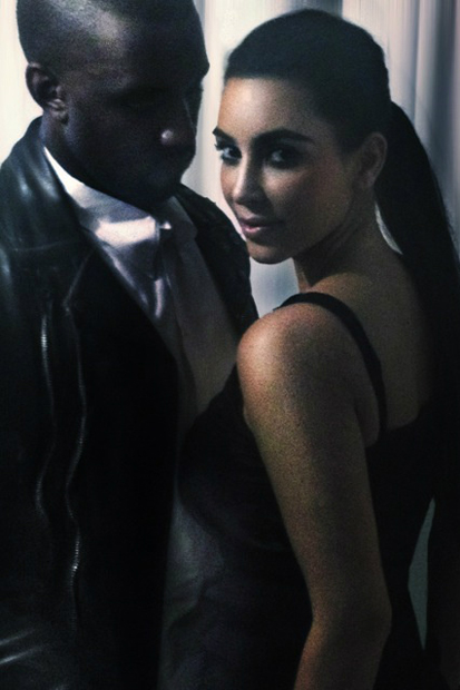 Image of Kanye West and Kim Kardashian by Nick Knight