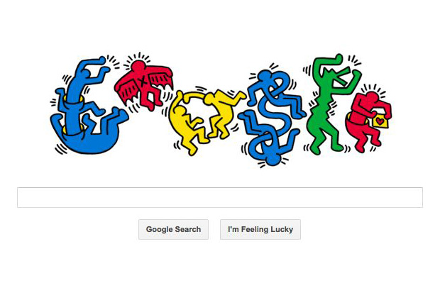 Image of Keith Haring x Google 'Happy Birthday'