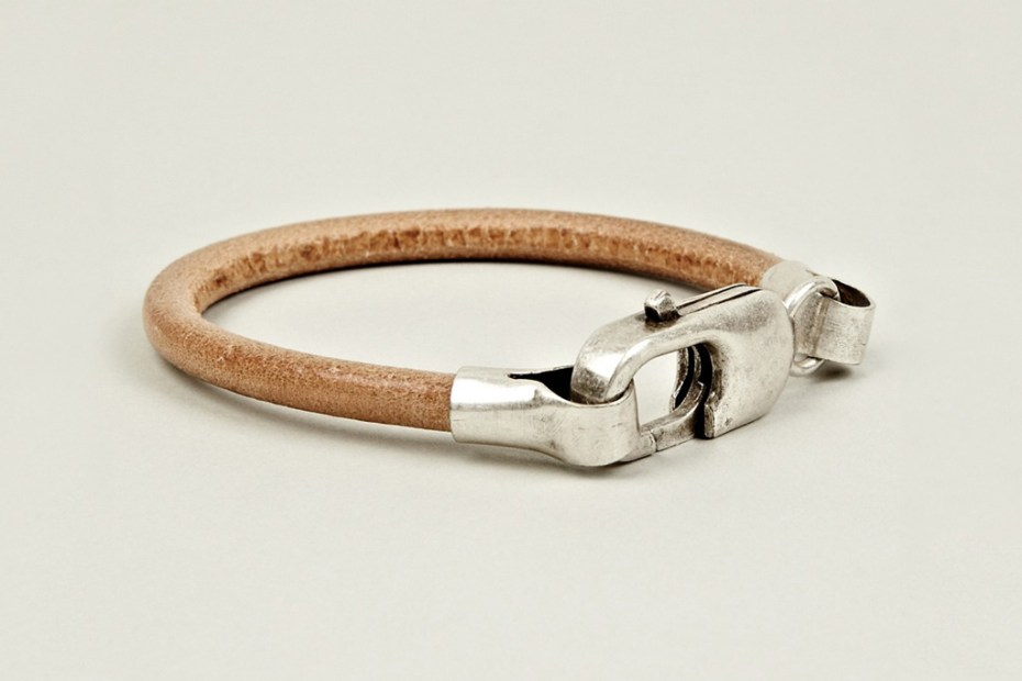 Image of Maison Martin Margiela 2012 Pre-Fall Brass and Leather Bracelet