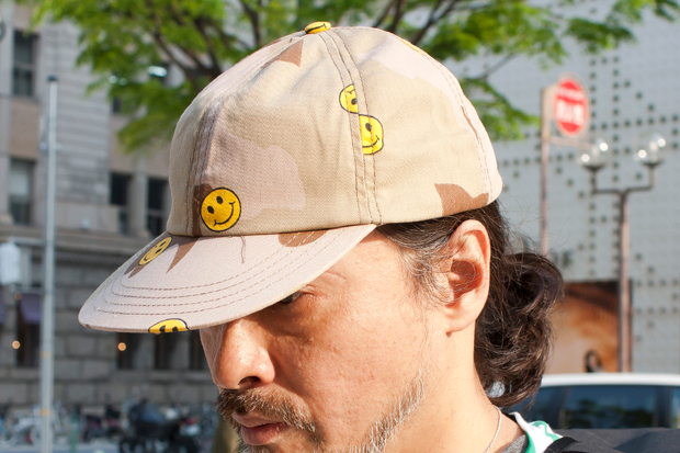 Image of Mark McNairy Smiley Face Camo Cap