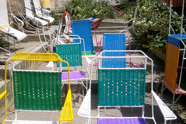 "Image of Marni Taps Colombian Ex-Prisoners to Create ""100 Chairs"""