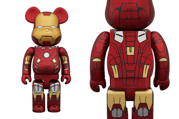 Image of Medicom Toy 400% & 100% Iron Man Mark VII Bearbrick