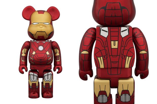 Image of Medicom Toy 400% & 100% Iron Man Mark VII Bearbrick