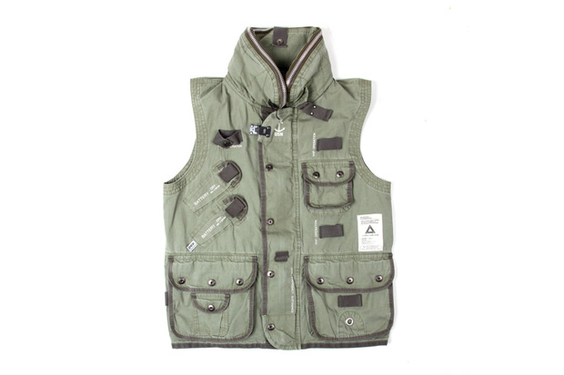 Image of SVG ARCHIVES by NEIGHBORHOOD 2012 U.S.N.V. Vest