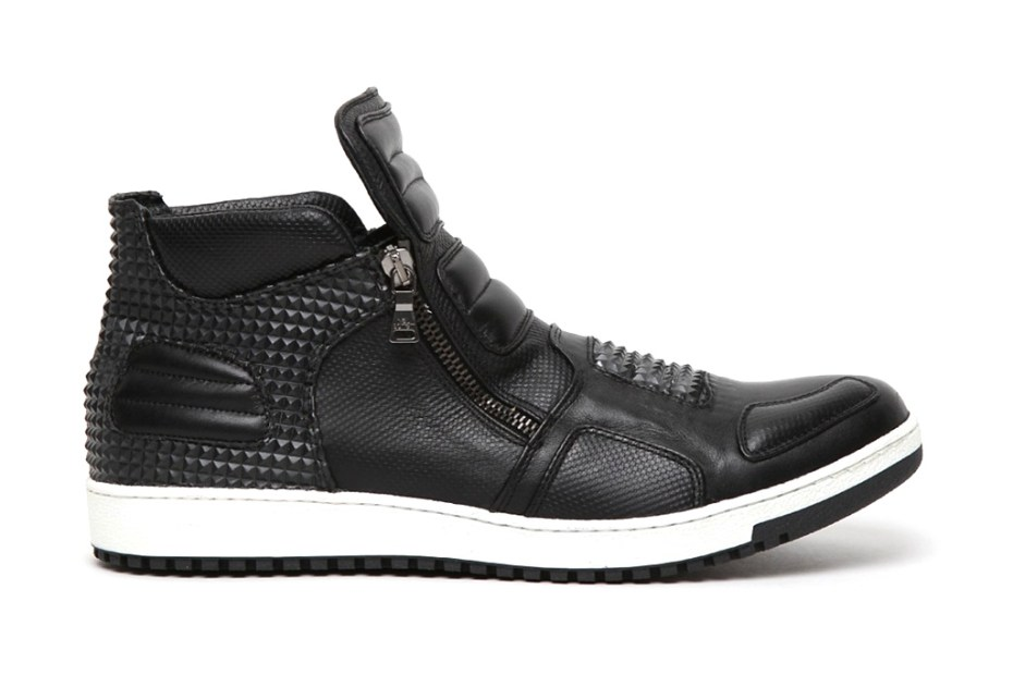 Image of Neil Barrett 2012 Spring/Summer Dickensian Leather Pyramid Trainer