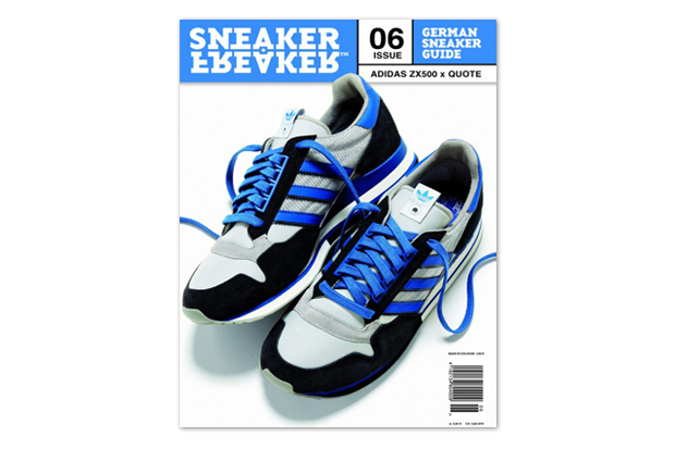 Image of Quote x adidas ZX 500 Preview on Cover of Sneaker Freaker Germany Issue 06