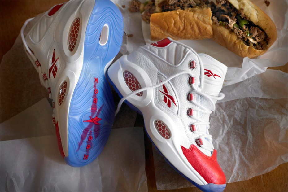 Image of Reebok Question Mid White/Red