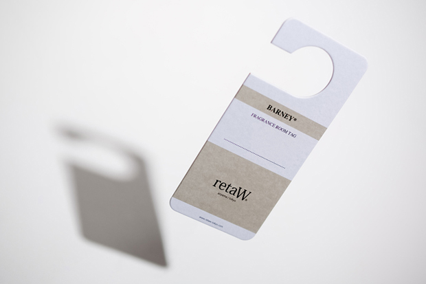 "Image of retaW ""BARNEY"" Fragrance Room Tag"