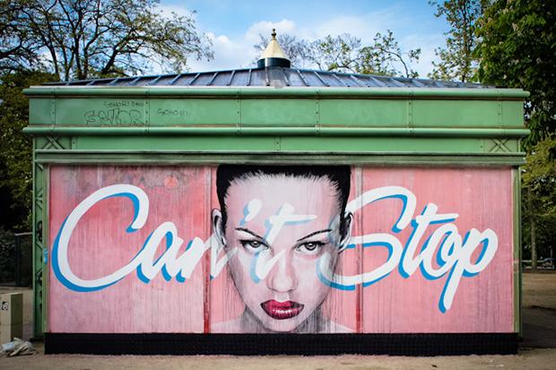 Image of RONE 'Can't Stop' Mural @ Bois de Vincennes Park