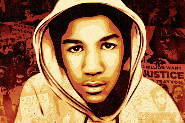 Image of Shepard Fairey for Ebony Magazine Trayvon Martin Cover Art