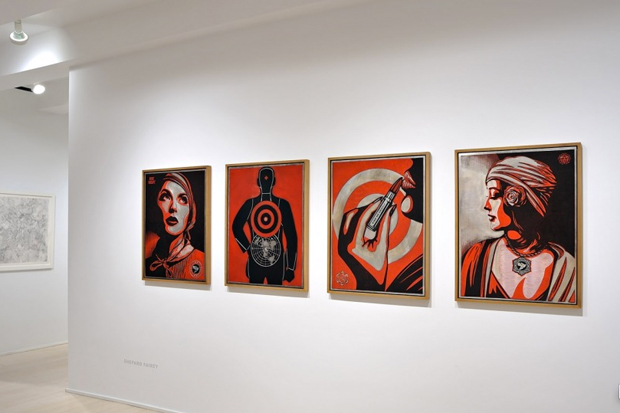 "Image of Shepard Fairey ""Harmony & Discord"" @ Pace Prints NYC"