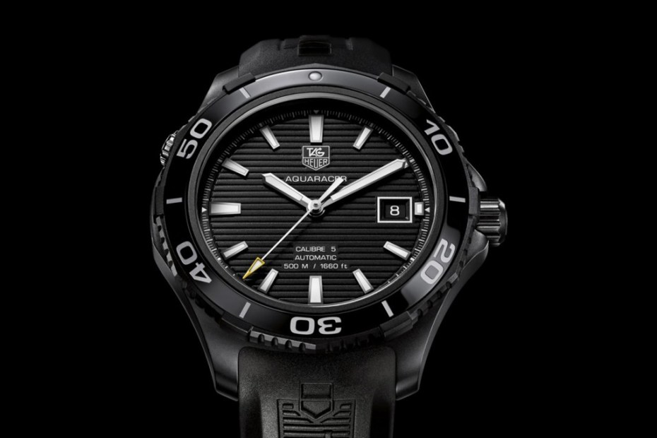 "Image of TAG Heuer Aquaracer 500M Ceramic Watch ""Full Black"""