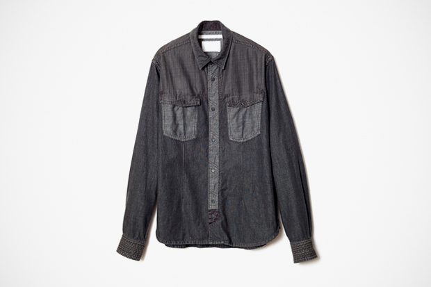 Image of White Mountaineering 2012 Spring/Summer Black Indigo Denim Shirts