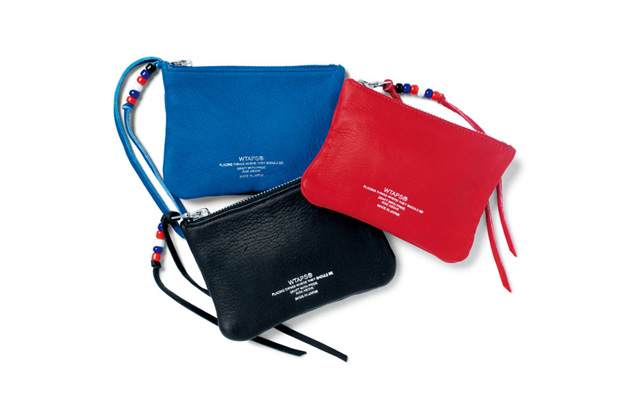 Image of WTAPS 2012 Spring/Summer Leather Zip Pouches