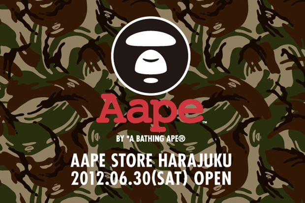 Image of AAPE by A Bathing Ape Harajuku Store Opening