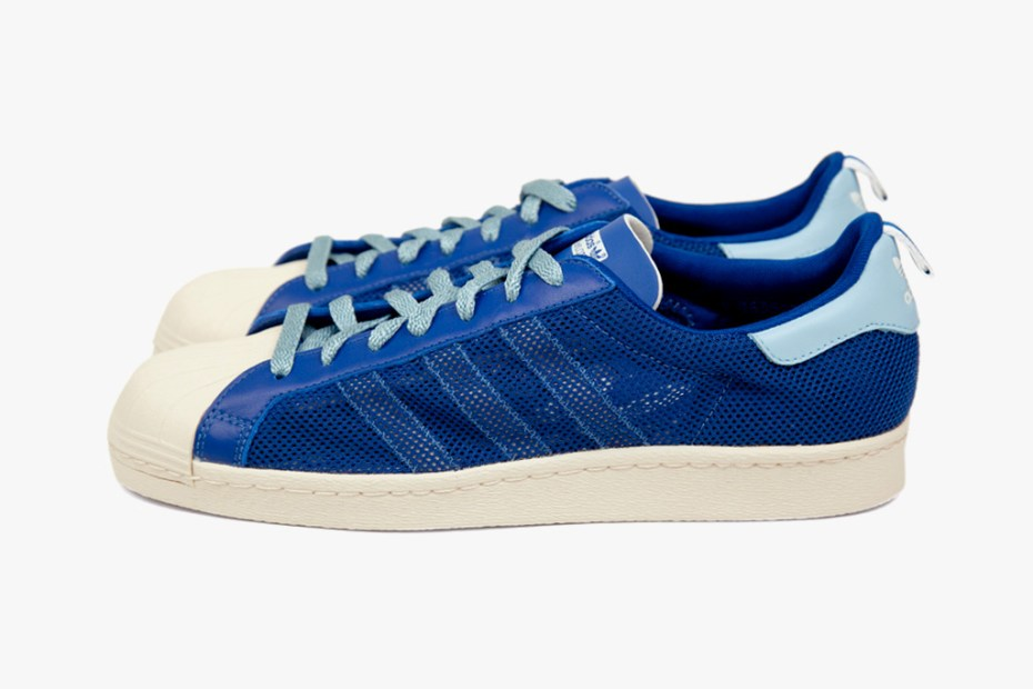 "Image of adidas Originals by Originals Kazuki Kuraishi x CLOT ""kzKLOT"" Superstar 80s Royal Blue"