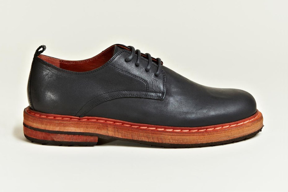 Image of Ann Demeulemeester 2012 Fall/Winter Vitello Olio Derby Shoes