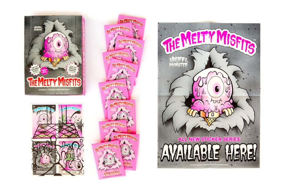 "Image of Buff Monster ""The Melty Misfits"" Collectible Sticker Cards"