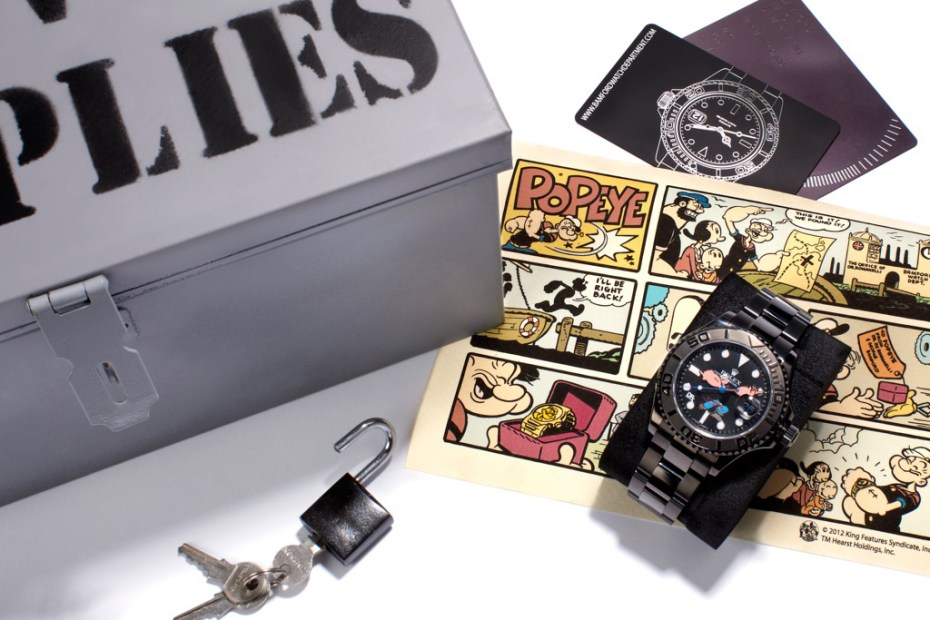 "Image of Dr. Romanelli x Bamford Watch Department ""Popeye vs Beetle Bailey"" Rolex Watches"