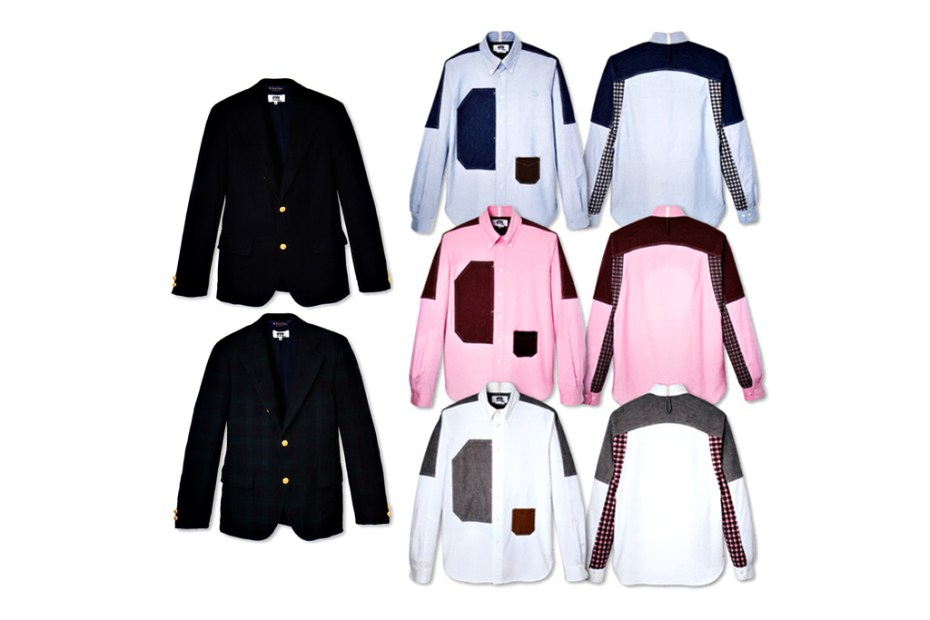 Image of eYe COMME des GARCONS JUNYA WATANABE MAN x Brooks Brothers Shirt and Blazer Collection