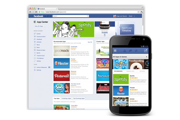Image of Facebook Launches App Store Based on Apps That Utilize Facebook Integration