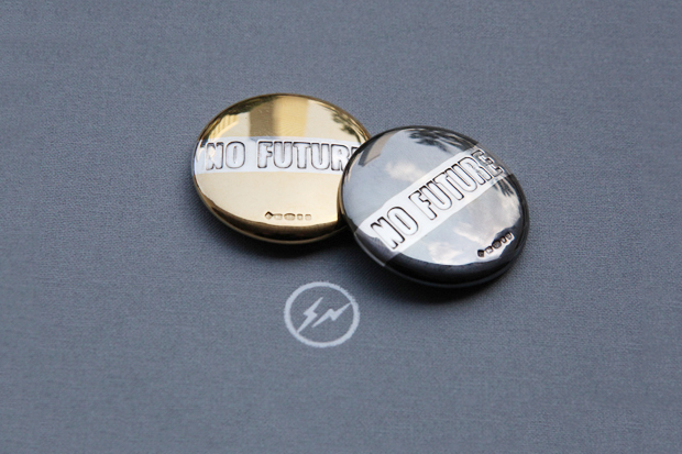 "Image of fragment design x BUNNEY ""No Future"" Badge Stud"