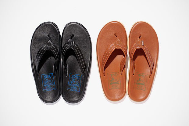 Image of Stussy x Island Slipper 2012 Leather Sandal