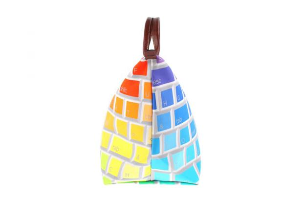 Image of Jeremy Scott x Longchamp Multi-Colored Keyboard Travel Bag
