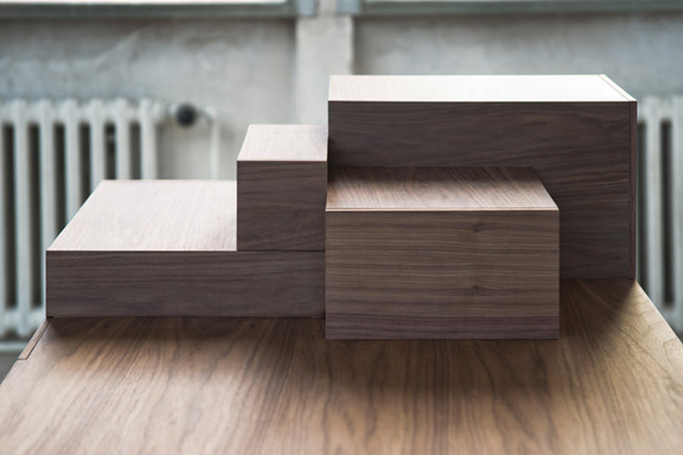 Image of Drawers That Interact With One Another: Listen to Your Hands Desk by Lee Sanghyeok