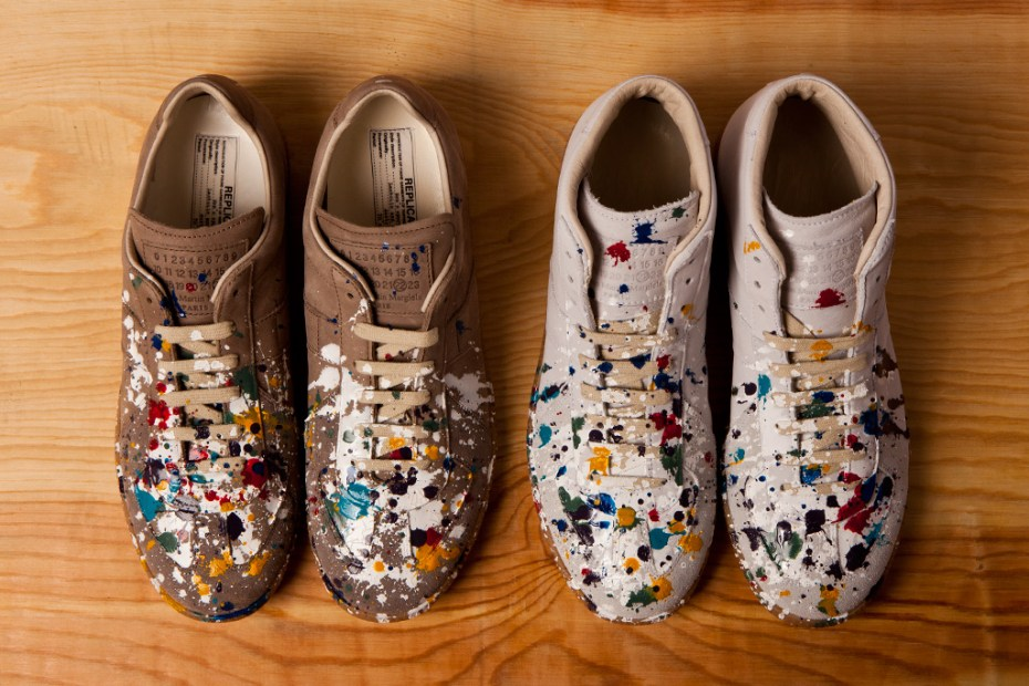 Image of Maison Martin Margiela 2012 Pre-Fall Paint Splatter Replica Sneakers