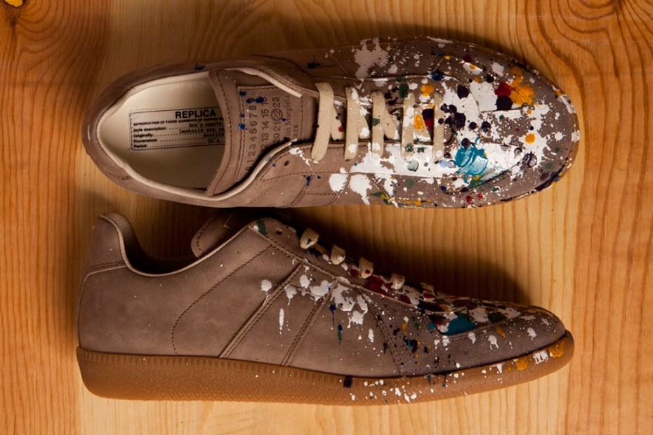 Image of Maison Martin Margiela 2012 Pre-Fall Paint Splatter Replica Sneakers