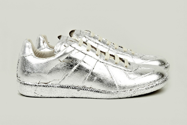 Image of Maison Martin Margiela Silver Foil Replica Sneakers