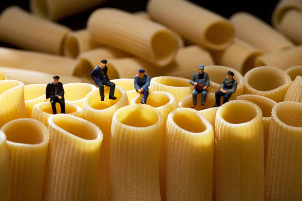 Image of Miniature People Playing with Food by Christopher Boffoli