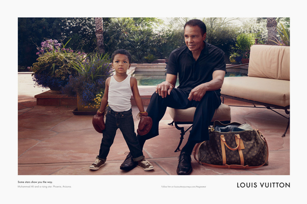 "Image of Muhammad Ali for Louis Vuitton ""Core Values"" Campaign"