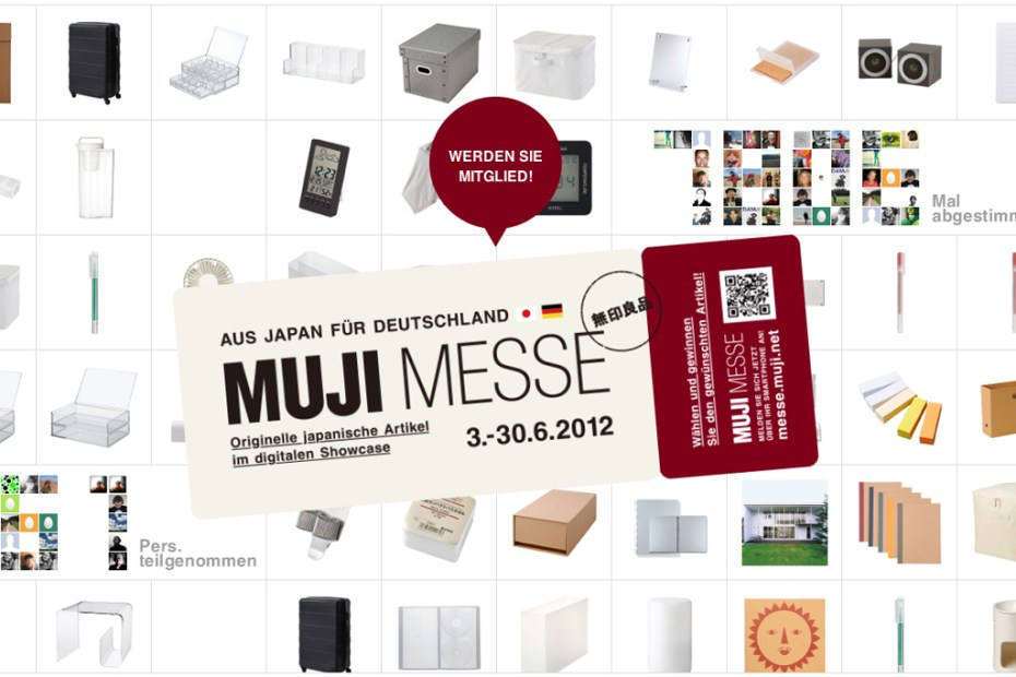 "Image of MUJI Holding ""MUJI MESSE"" Online Trade Fair"