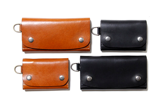 Image of nonnative x Stevenson Overall Co. SHORT & LONG COW DWELLER LEATHER WALLET
