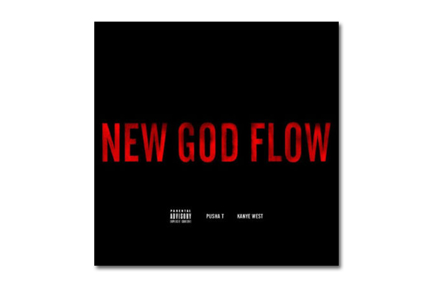 Image of Pusha T featuring Kanye West - New God Flow | Artwork