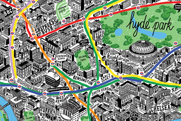 "Image of ""London by Hand"" Offers a Series of Hand-Drawn Maps of London"