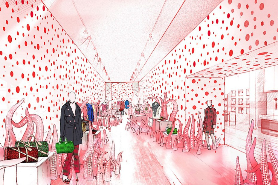 Image of Yayoi Kusama x Louis Vuitton Pop-Up Store Preview