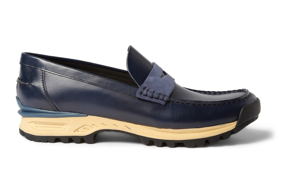 Image of Acne Bernhard Rubber-Soled Leather Penny Loafer