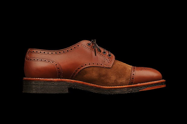 Image of Alden 2012 Bluxome Two Tone Straight Tip Medallion Toe Spectator