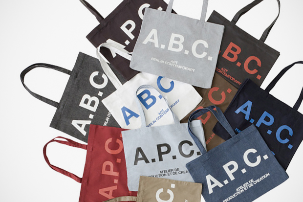 Image of art berlin contemporary x A.P.C. Tote Bag Collection