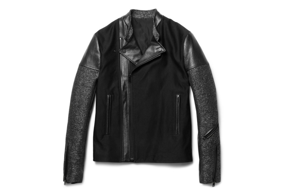 Image of Balenciaga Panelled Slim-Fit Biker Jacket