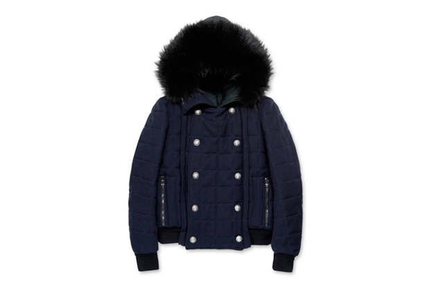 Image of Balmain Hooded Fur Jacket