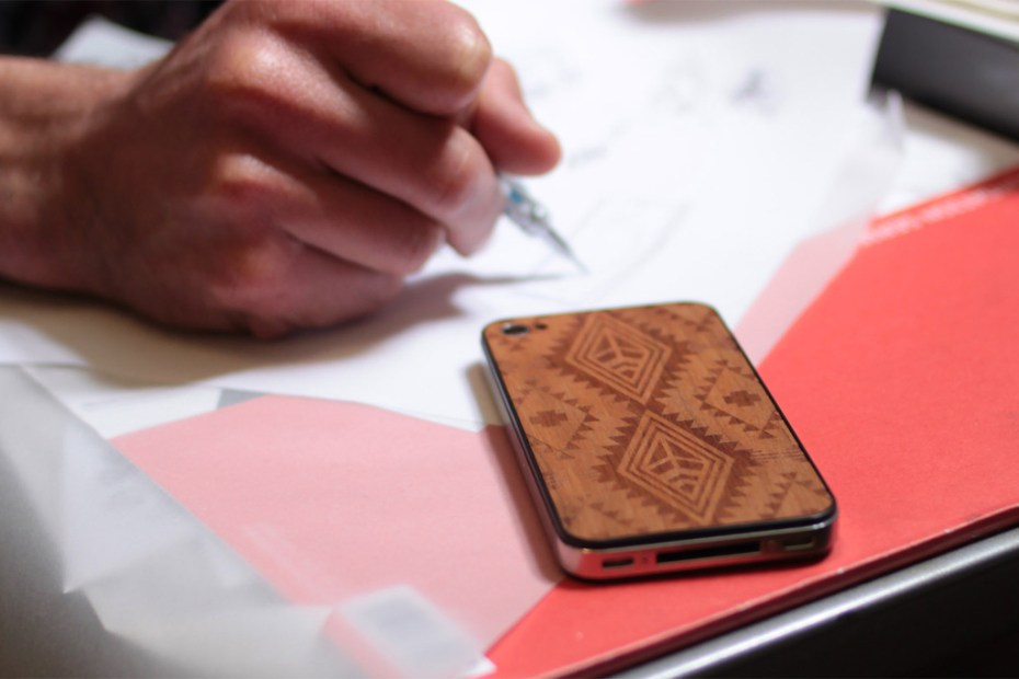 Image of Benny Gold x Material6 Wood iPhone Backing