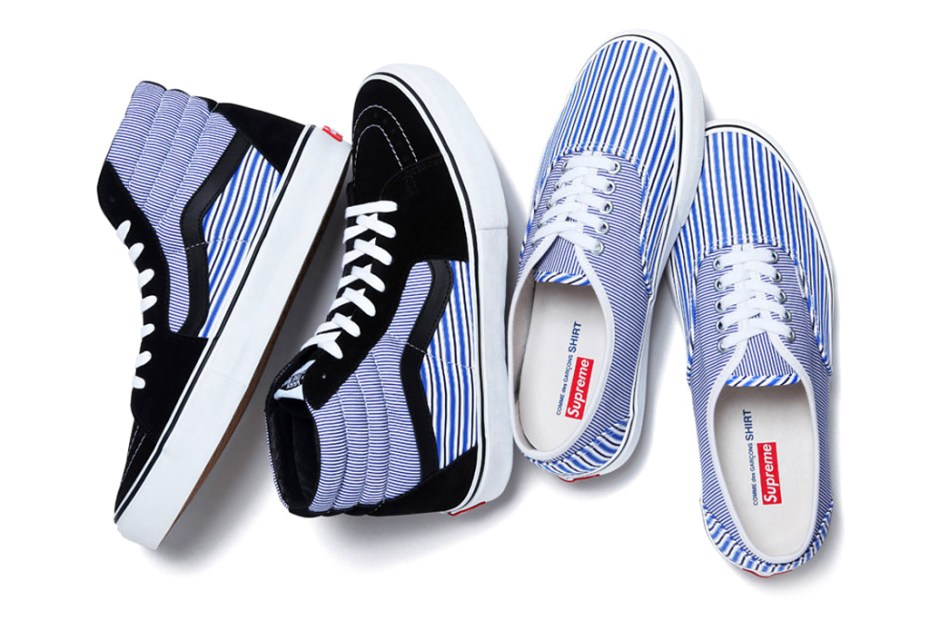 Image of COMME des GARCONS SHIRT x Supreme x Vans 2012 Spring/Summer Collection Release Info